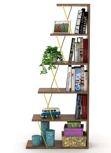 Rafevi Tars Kitaplık Mini Kahve